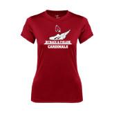 Ladies Syntrel Performance Cardinal Tee-Track & Field Side