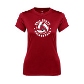 Ladies Syntrel Performance Cardinal Tee-Volleyball Circle