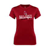 Ladies Syntrel Performance Cardinal Tee-Volleyball Can You Dig It