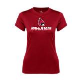 Ladies Syntrel Performance Cardinal Tee-Ball State Cardinals w/ Cardinal