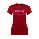 Ladies Syntrel Performance Cardinal Tee-Script Baseball