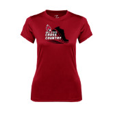 Ladies Syntrel Performance Cardinal Tee-Cross Country Sneaker