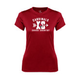 Ladies Syntrel Performance Cardinal Tee-Cross Country XC