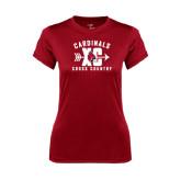 Ladies Syntrel Performance Cardinal Tee-Cross Country XC