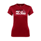 Ladies Syntrel Performance Cardinal Tee-Field Hockey Player