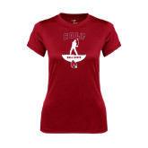 Ladies Syntrel Performance Cardinal Tee-Golf Stacked