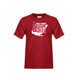 Youth Cardinal T Shirt-Swim & Dive Swimmer