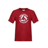 Youth Cardinal T Shirt-Volleyball Circle