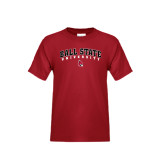 Youth Cardinal T Shirt-Arched Ball State University