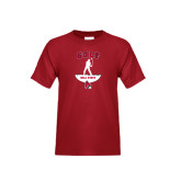 Youth Cardinal T Shirt-Golf Stacked