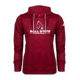 Adidas Climawarm Cardinal Team Issue Hoodie-Ball State Cardinals w/ Cardinal