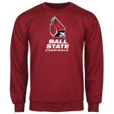 Cardinal Fleece Crew-Ball State Cardinals Stacked