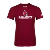 Adidas Cardinal Logo T Shirt-Ball State Cardinals w/ Cardinal