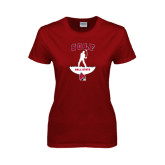 Ladies Cardinal T Shirt-Golf Stacked