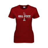 Ladies Cardinal T Shirt-Track & Field