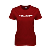 Ladies Cardinal T Shirt-Ball State Cardinals