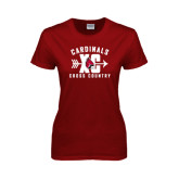Ladies Cardinal T Shirt-Cross Country XC