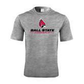 Performance Grey Heather Contender Tee-Ball State Cardinals w/ Cardinal