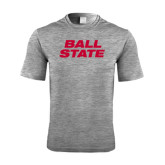 Performance Grey Heather Contender Tee-Ball State Stacked