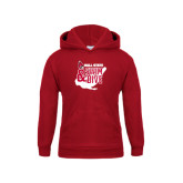 Youth Cardinal Fleece Hoodie-Swim & Dive Swimmer