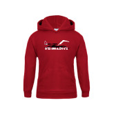 Youth Cardinal Fleece Hoodie-Swim & Dive Diver