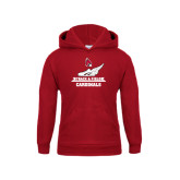 Youth Cardinal Fleece Hoodie-Track & Field Side
