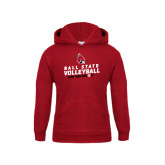 Youth Cardinal Fleece Hoodie-Volleyball Can You Dig It