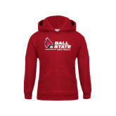 Youth Cardinal Fleece Hoodie-Softball
