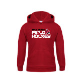 Youth Cardinal Fleece Hoodie-Field Hockey Player