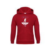 Youth Cardinal Fleece Hoodie-Golf Stacked