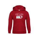 Youth Cardinal Fleece Hoodie-Golf Tee Off