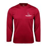 Syntrel Performance Cardinal Longsleeve Shirt-Ball State Cardinals w/ Cardinal