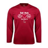 Performance Cardinal Longsleeve Shirt-Soccer Just Kick It