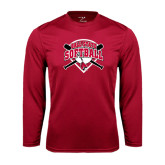 Performance Cardinal Longsleeve Shirt-Softball Bats and Plate