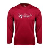 Performance Cardinal Longsleeve Shirt-Softball Script