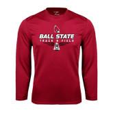 Performance Cardinal Longsleeve Shirt-Track & Field