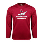 Performance Cardinal Longsleeve Shirt-Track & Field Side