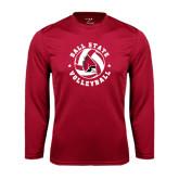 Performance Cardinal Longsleeve Shirt-Volleyball Circle