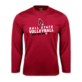 Syntrel Performance Cardinal Longsleeve Shirt-Volleyball Can You Dig It