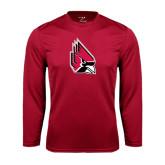 Performance Cardinal Longsleeve Shirt-Cardinal