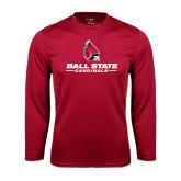Performance Cardinal Longsleeve Shirt-Ball State Cardinals w/ Cardinal