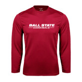 Syntrel Performance Cardinal Longsleeve Shirt-Ball State Cardinals