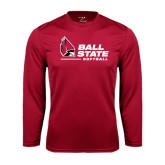 Syntrel Performance Cardinal Longsleeve Shirt-Softball