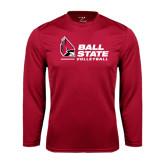 Performance Cardinal Longsleeve Shirt-Volleyball