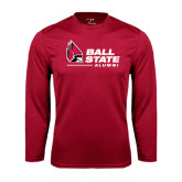 Syntrel Performance Cardinal Longsleeve Shirt-Alumni