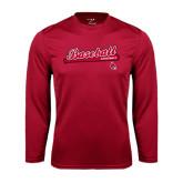Syntrel Performance Cardinal Longsleeve Shirt-Script Baseball