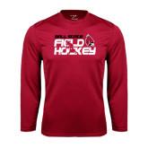 Performance Cardinal Longsleeve Shirt-Field Hockey Player