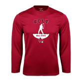 Performance Cardinal Longsleeve Shirt-Golf Stacked