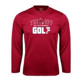Performance Cardinal Longsleeve Shirt-Golf Tee Off