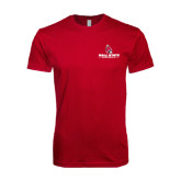 Next Level SoftStyle Cardinal T Shirt-Ball State Cardinals w/ Cardinal